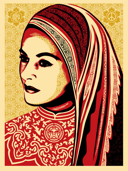 Shepard Fairey_obey Peace_Woman_Kenwood_edition_2008