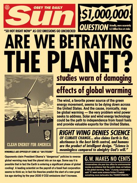 Shepard Fairey_obey Sun_Paper_Print_2009