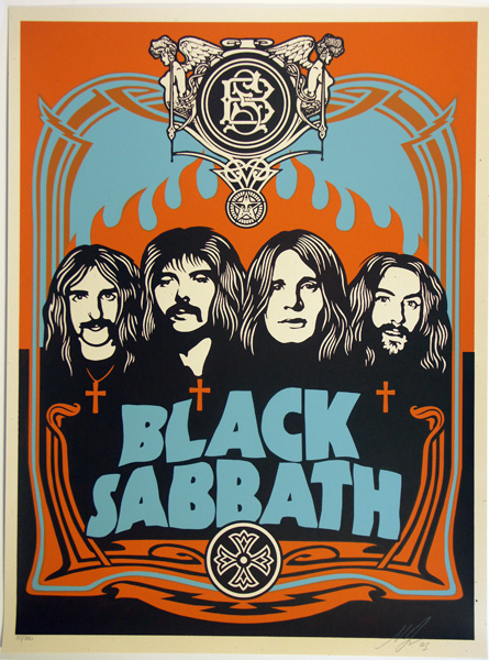 SHEPARD FAIREY OBEY BLACK SABBATH ORANGE_ Kirk_Pedersen_projects