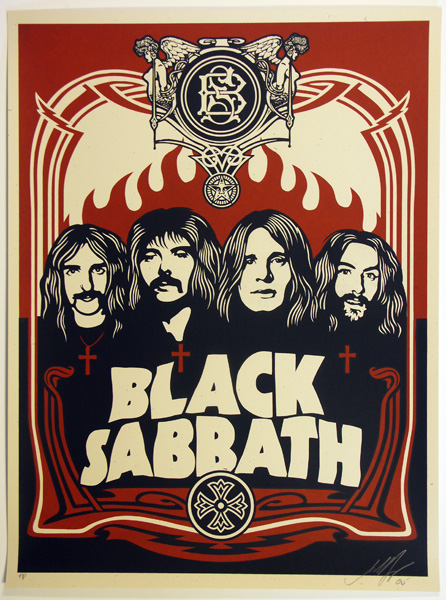 SHEPARD FAIREY OBEY BLACK SABBATH RED_ Kirk_Pedersen_projects