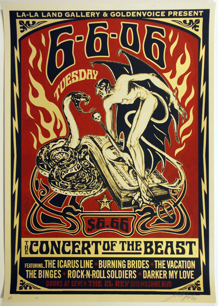 SHEPARD FAIREY OBEY concert of beast_ Kirk_Pedersen_projects