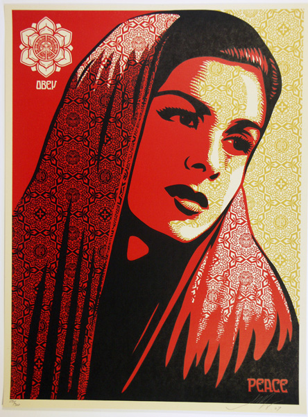 SHEPARD FAIREY obey PEACE MUJER_ Kirk_Pedersen_projects