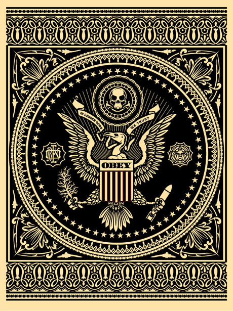 SHEPARD FAIREY obey PRESIDENTAL SEAL BLACK_ Kirk_Pedersen_projects
