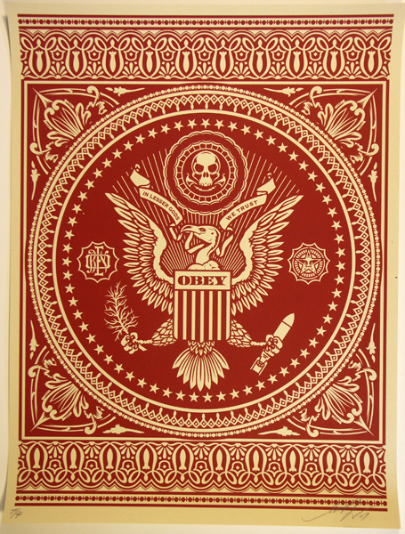 SHEPARD FAIREY obey PRESIDENTAL SEAL RED_ Kirk_Pedersen_projects