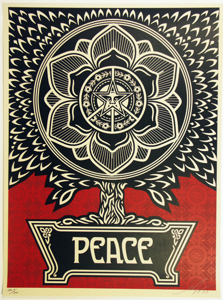 SHEPARD FAIREY OBEY PEACE TREE_ Kirk_Pedersen_projects