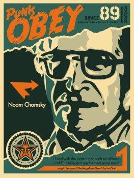 SHEPARD FAIREY obey GIANT Noam Chomsky_ Kirk_Pedersen_projects