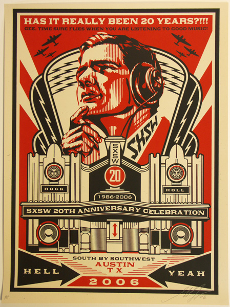 SHEPARD FAIREY obey SXSW_ Kirk_Pedersen_projects