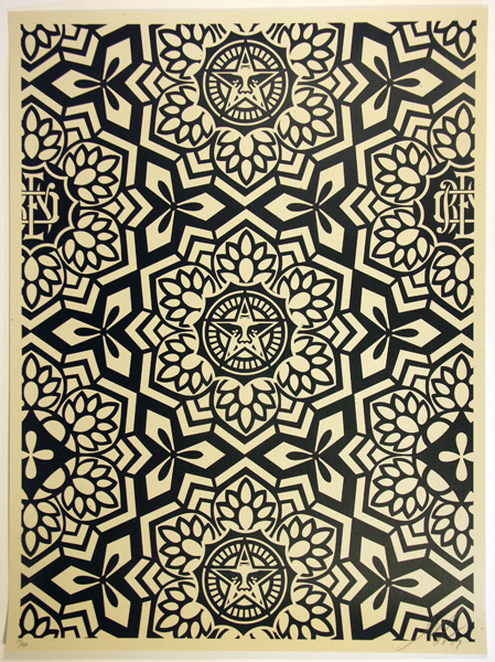 SHEPARD FAIREY obey GIANT YEN PATTERN BLACK WHITE_ Kirk_Pedersen_projects