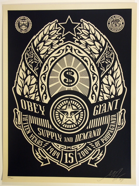 SHEPARD FAIREY obey Supply and demend black_ Kirk_Pedersen_projects