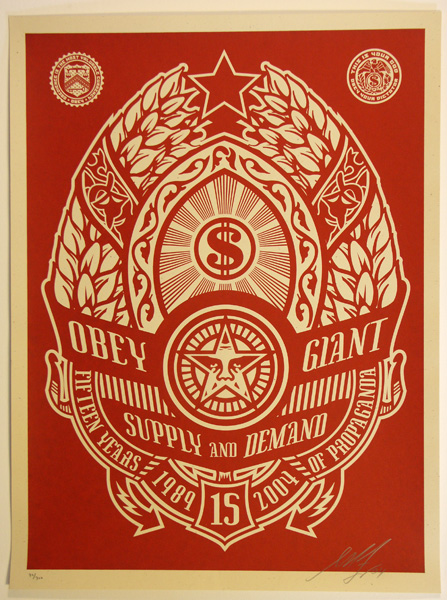 SHEPARD FAIREY obey Supply and demend red_ Kirk_Pedersen_projects