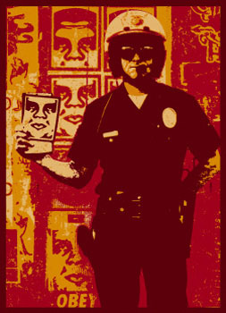 SHEPARD FAIREY obey america finest cop_ Kirk_Pedersen_projects