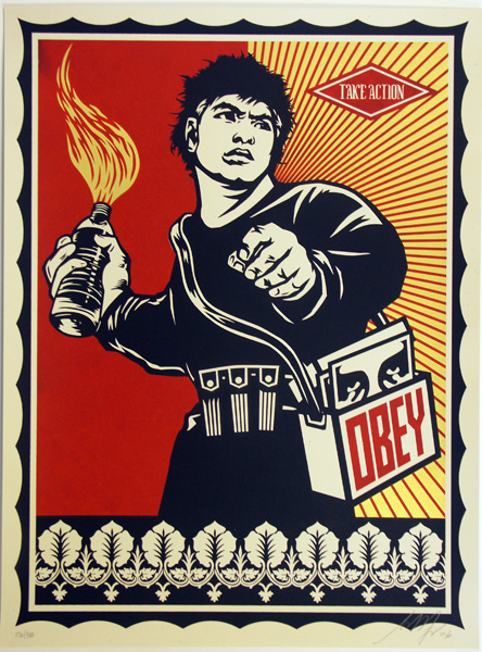 SHEPARD FAIREY obey molotov-man_ Kirk_Pedersen_projects